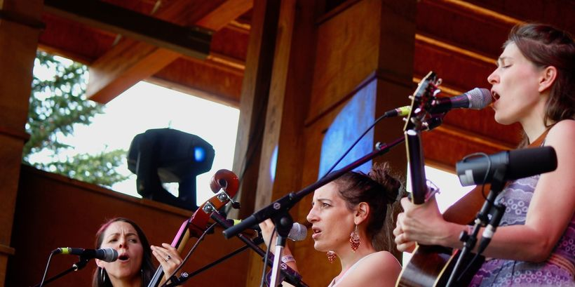 The Wailin' Jennys perform at the Rocky Mountain Folks Festival on Aug. 20.
