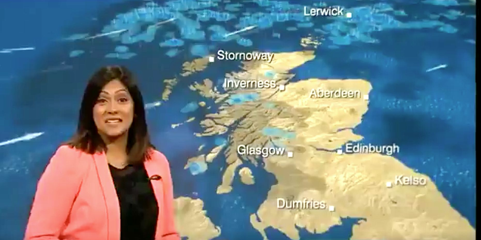 Weather Forecaster Can't Stop Giggling After Comical Caption
