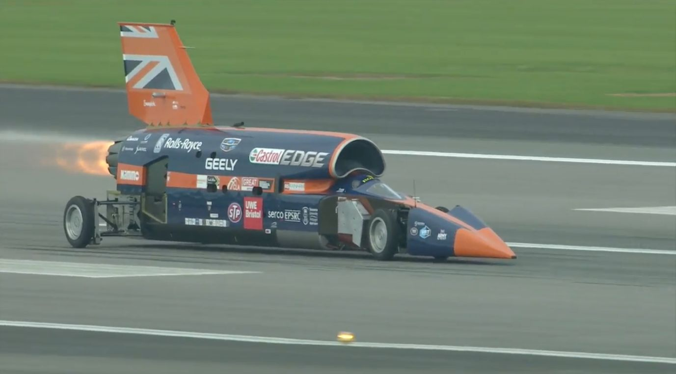 The Bloodhound Supersonic Car Has Completed Its First Public Test