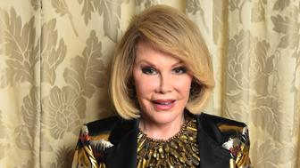 NEW YORK, NY - AUGUST 15: Comedian Joan Rivers is photographed at the Plaza Atheneeon August 15, 2014 in New York City where she officiated the gay wedding of Joseph Aiello and William 'Jed' Ryan. (Photo by Michael Loccisano/Getty Images)