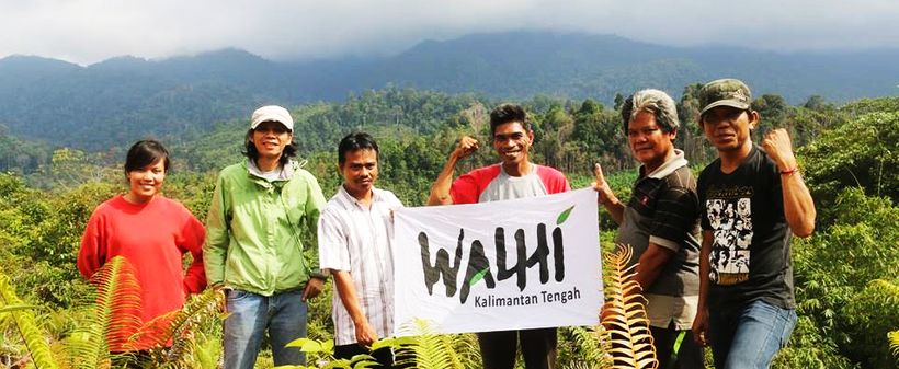 WALHI activists in Kalimantan
