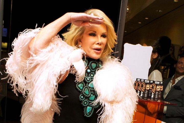 Joan Rivers attends Benefit Cosmetics & Joan Rivers Host The E! Fashion Police Fashion Week Wrap Party at Benefit Boutiqu