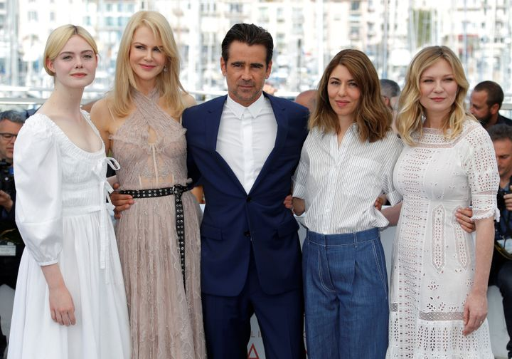 "Elle Fanning, Nicole Kidman, Colin Farrell, Sofia Coppola and Kirsten Dunst attend a photo call for ""The Beguiled"" at the Can"