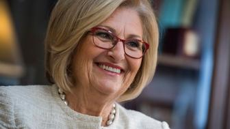 UNITED STATES - OCTOBER 03: Rep. Diane Black, R-Tenn., chairman of the House Budget Committee, is interviewed in her Longworth Building office on October 3, 2017. (Photo By Tom Williams/CQ Roll Call)