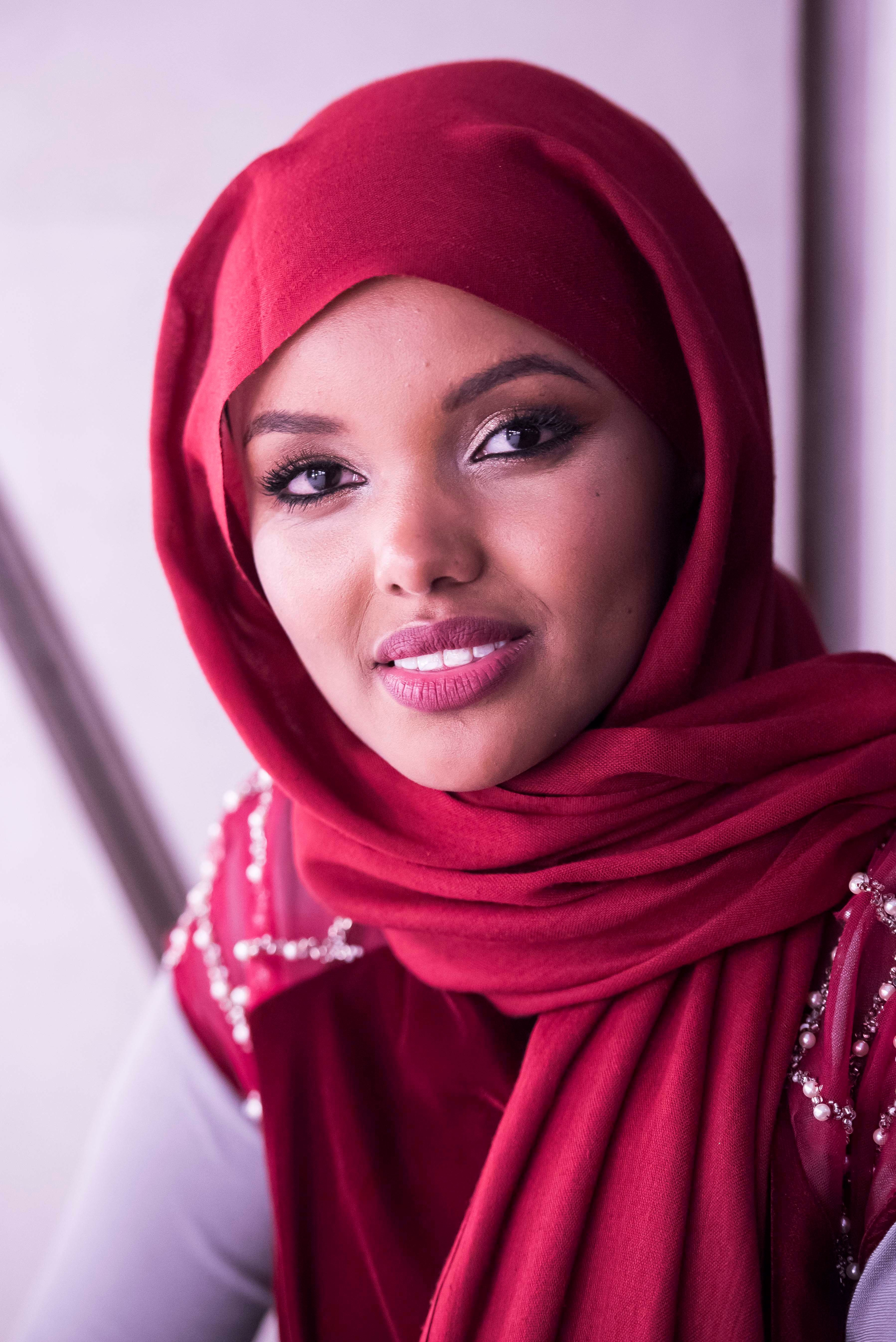 Halima Aden at the Modest Fashion Festival at the Grosvenor House Hotel, London on Saturday 21 October