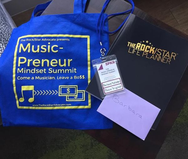 Barbara DeLaleu — aka Roxie Digital of WPLJ 95.95 — delivered an empowering keynote address at Music-Preneur Mindset Summit.