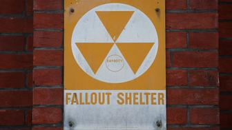 WASHINGTON, DC - AUGUST 09:  A fallout shelter sign still hangs near the entrance to the old Bruce Elementary School which is now called the Cesar Chavez Prep Middle School, on August 9, 2017 in Washington, DC. In the early 60's Washington was at the center of civil defense preparations in case of a nuclear blast, with over one thousand dedicated public fallout shelters in schools, churches and government buildings.  (Photo by Mark Wilson/Getty Images)
