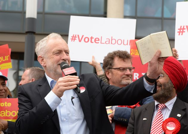 Jeremy Corbyn campaigning in