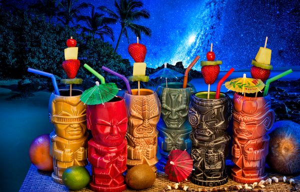 "This collection of <a href=""http://www.thinkgeek.com/product/jrpm/"" target=""_blank"">tiki mugs</a> -- modeled on the mugs"