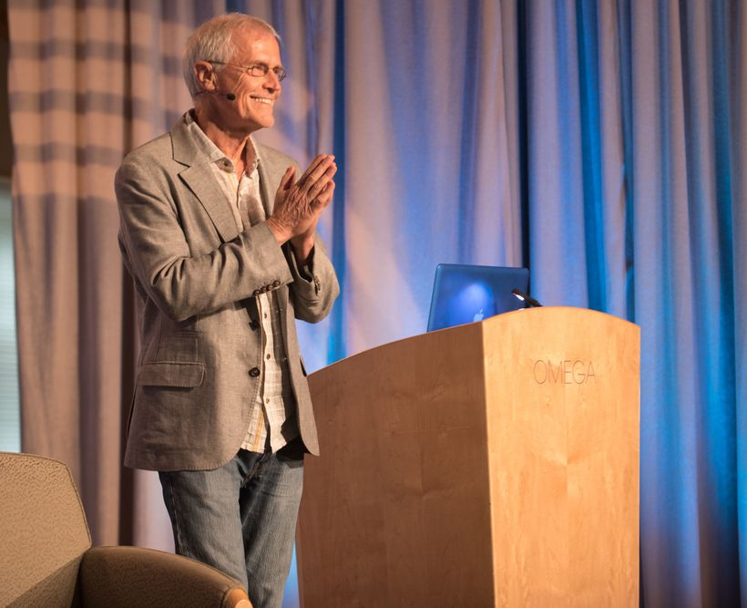 Paul Hawken speaking at Omega's Being Fearless: Action in a Time of Disruption conference.