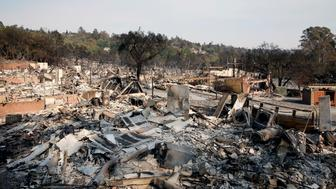 CALIFORNIA, USA - OCTOBER 13: The remains are seen after a wildfire moved through the area in Santa Rosa and Napa Valley in California, United States on October 13, 2017. Massive out-of-controls wildfires have claimed at least 31 people and detroyed 3,500 homes in Northern California as the deadliest in state history.  (Photo by Tayfun Coskun/Anadolu Agency/Getty Images)