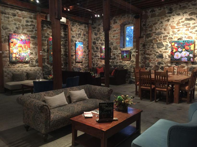 The tasting room of Ehlers Estate, St. Helena, Napa Valley