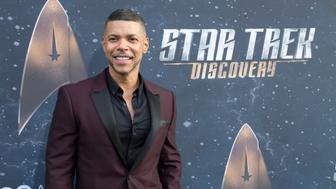 LOS ANGELES, CA - SEPTEMBER 19:  Actor Wilson Cruz arrives for the Premiere Of CBS's 'Star Trek: Discovery' at The Cinerama Dome on September 19, 2017 in Los Angeles, California.  (Photo by Greg Doherty/Patrick McMullan via Getty Images)