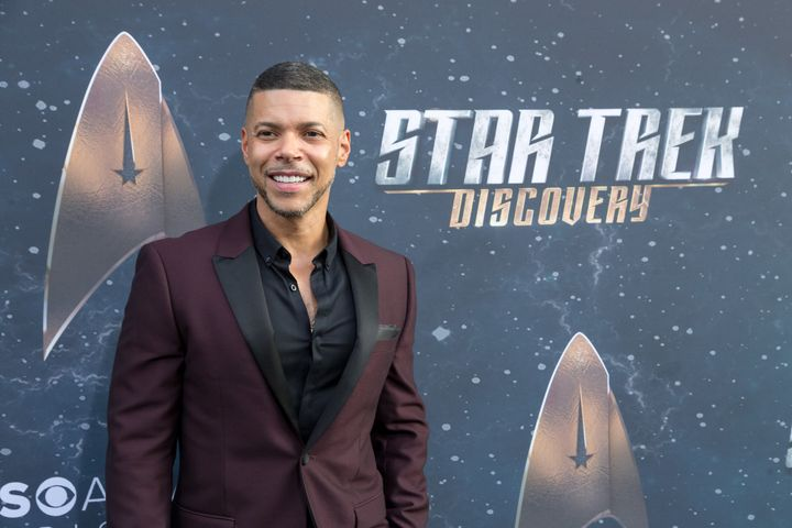 Actor Wilson Cruz arrives for the Premiere Of CBS's 'Star Trek: Discovery' at The Cinerama Dome.