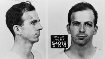 The Dallas Police Department mug shots of Lee Harvey Oswald following his arrest for possible involvement in the John F. Kennedy assassination and the murder of Officer J.D. Tippit. (Photo by © CORBIS/Corbis via Getty Images)