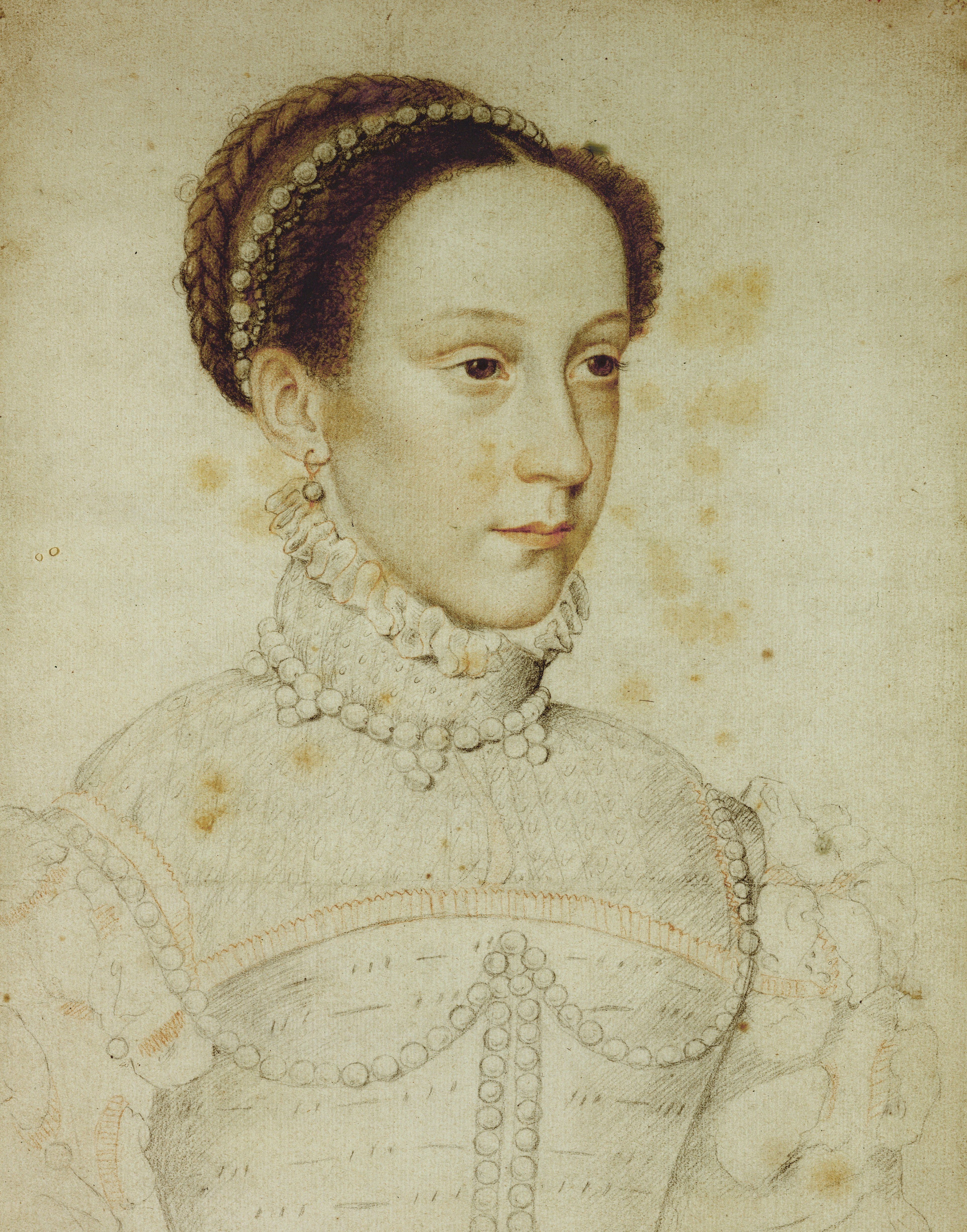 <strong>Mary Stuart, Queen of the Scots, by Jean Clouet, 1559</strong>