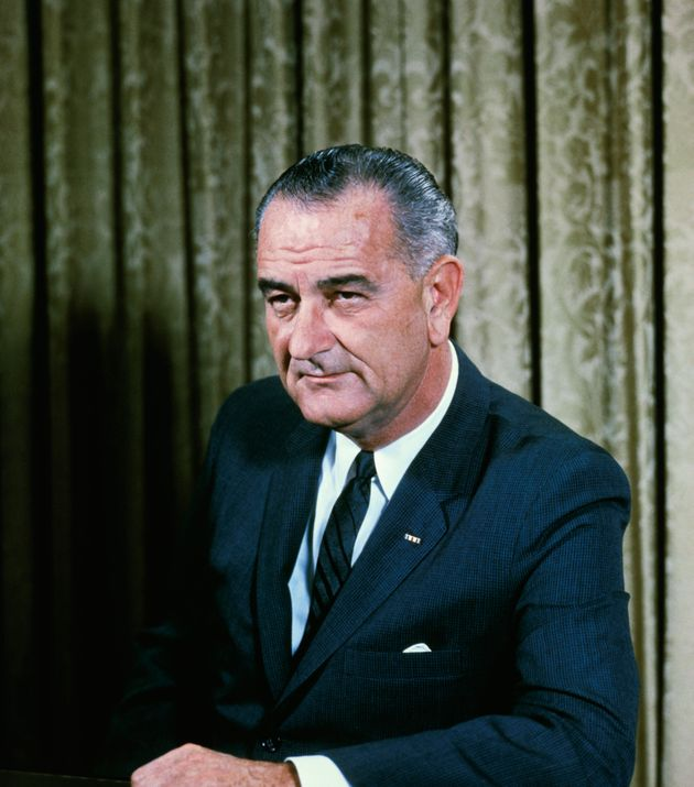 A 1964 White House portrait of President Lyndon B Johnson, who took office after Kennedy was