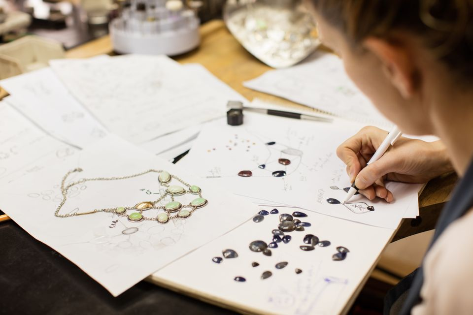 Helen Ledlow makes unique jewellery for sale on market stalls and on her own website (file