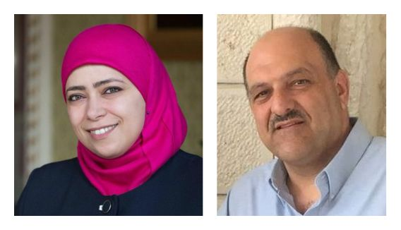 Nisreen Musleh, Managing Director of Ritaj Managerial Solutions and Sam Bahour,  Managing Partner of Applied Information Mana