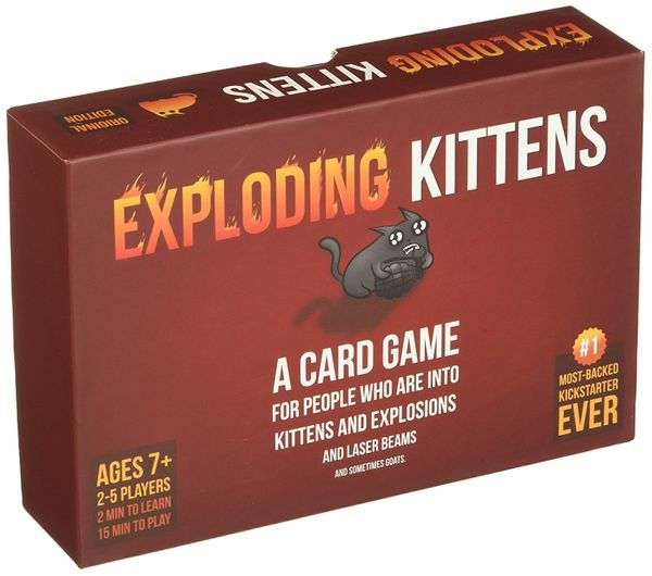 "This party game is perfect for ""people who are into kittens and explosions and laser beams and sometimes goats."" It was"