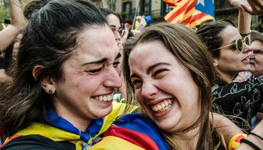 Photos Record A Historic Day As Catalonia Declares Independence From