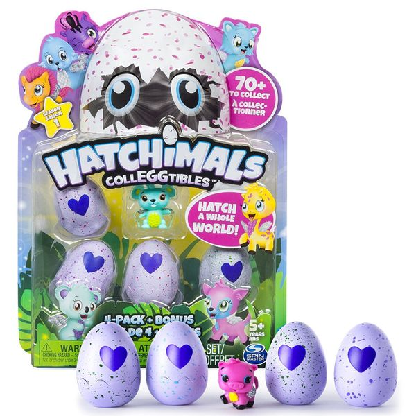 Hold the egg in your hands, rub the heart and when it changes from purple to pink, it's ready to hatch, and you can coll