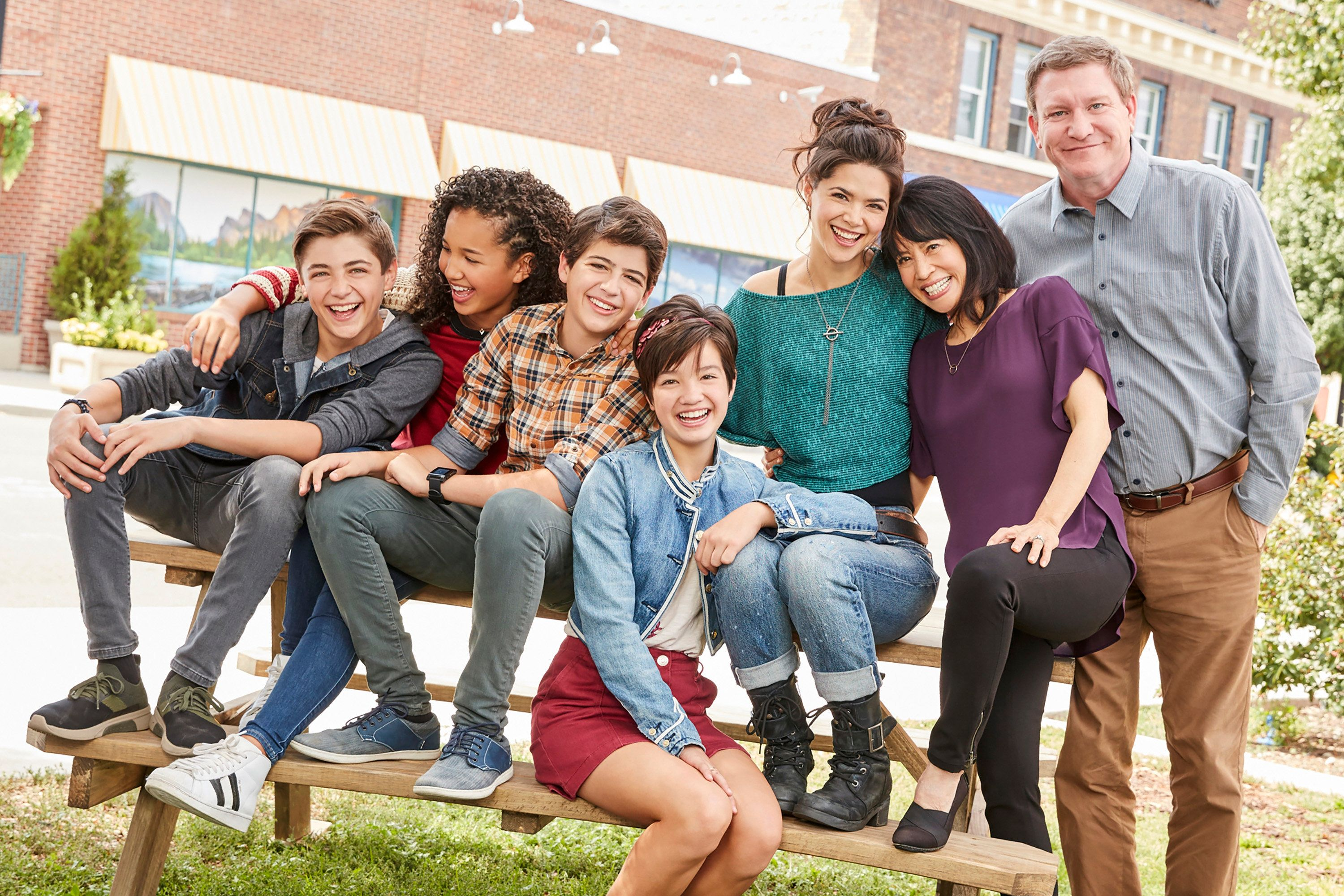 ANDI MACK - 'Andi Mack,' the series that has captivated kids and families, makes its season premiere with a one-hour episode FRIDAY, OCTOBER 27 (8:009:00 p.m. EDT), on Disney Channel and the Disney Channel app (9:00 p.m. EDT). Created and executive produced by writer Terri Minsky ('Lizzie McGuire') and filmed in Salt Lake City, Utah, the series has been noted for its deft handling of realistic and optimistic stories about a girl, her friends and family. (Craig Sjodin via Getty Images) ASHER ANGEL, SOFIA WYLIE, JOSHUA RUSH, PEYTON ELIZABETH LEE, LILAN BOWDEN, LAUREN TOM, STONEY WESTMORELAND