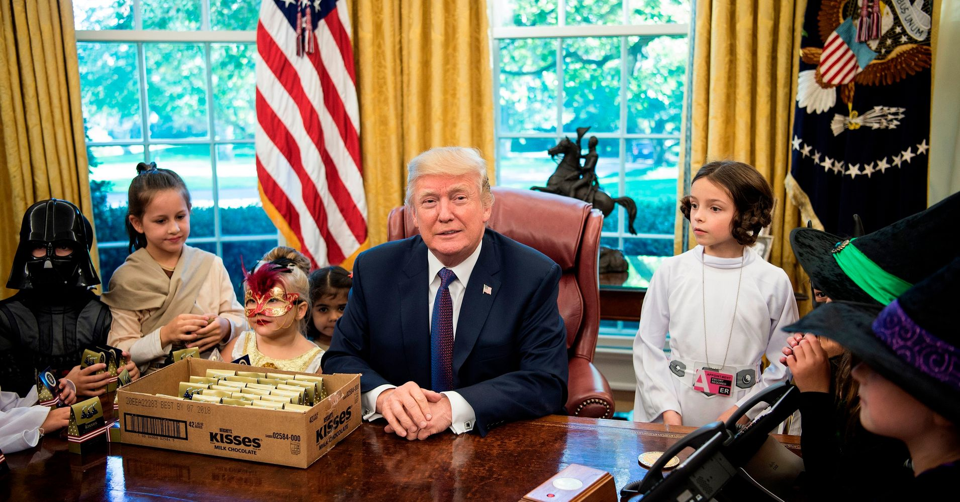 OK Mr. President, we get you don't like the media and most of that contempt is well deserved. But give it a rest in front of the kids.