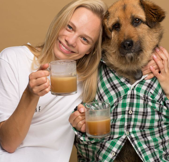 Agota Jakutyte and Crete, the dog who made her realize dogs would love Rooffee.