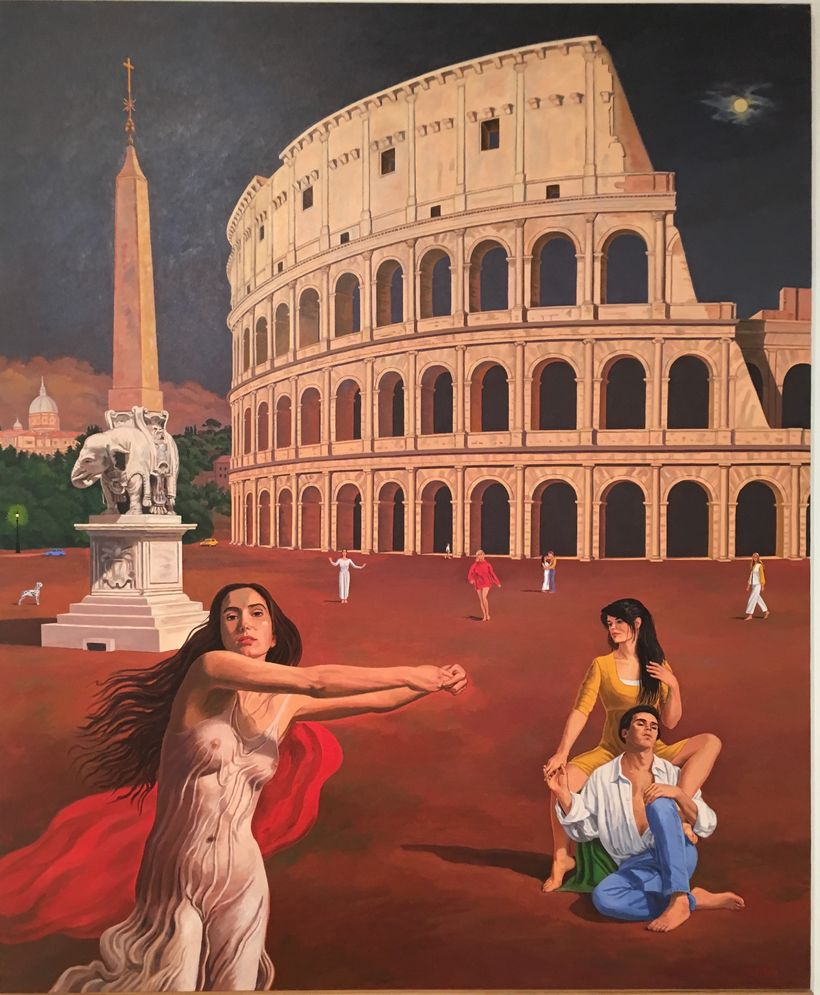 Vincent Arcilesi, Summer Night in Rome. On View at Arcilesi Retrospective.