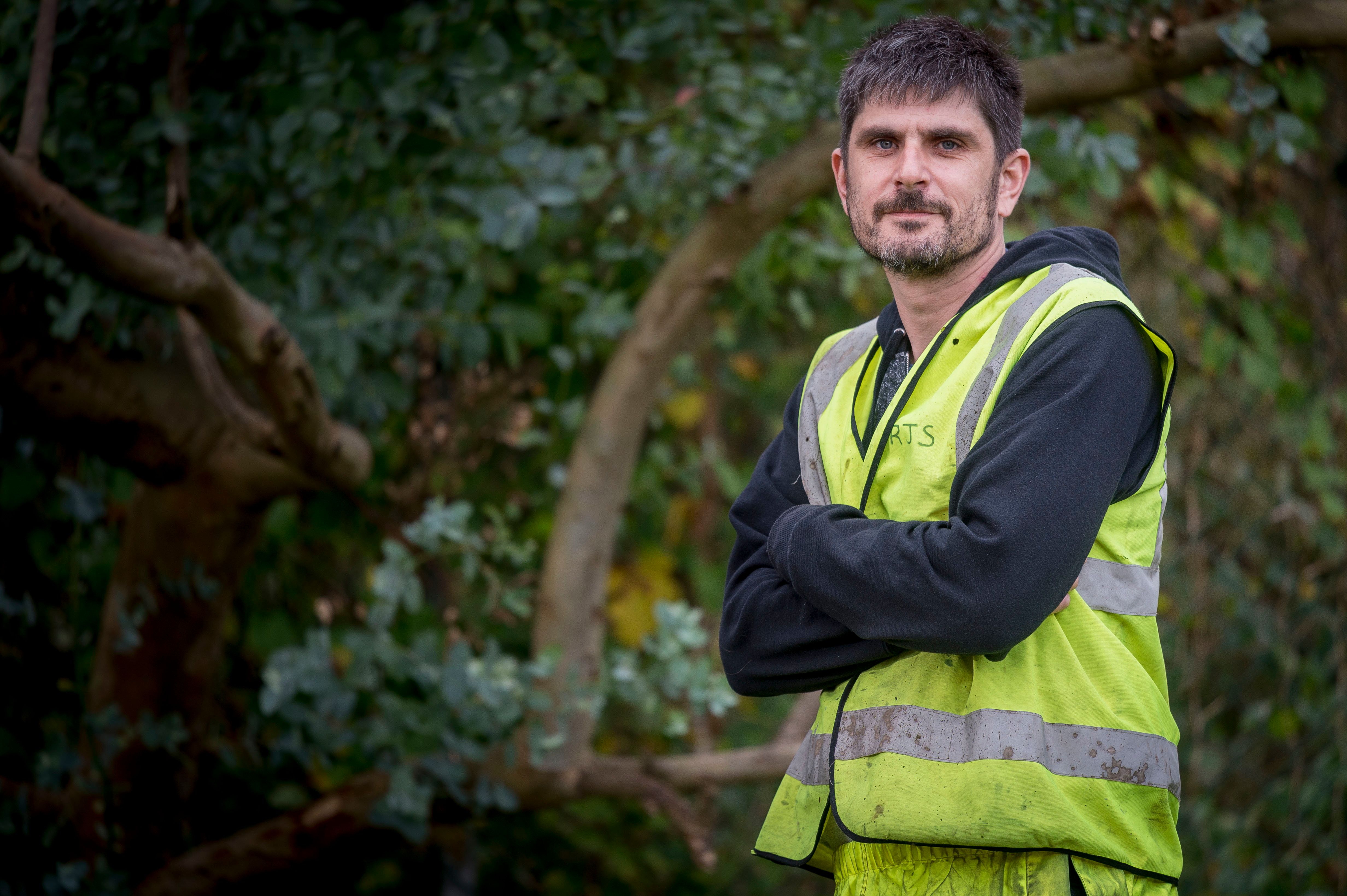 Self-employed welder Andrew White from Gorelston, Norfolk, was told by officials he would be better off jobless as a result of an 'unfair' Universal Credit rule.