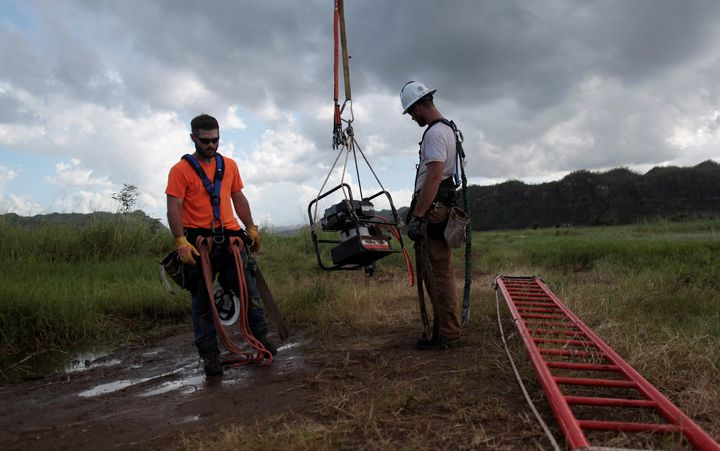 Employees of Montana-based Whitefish Energy Holdings were at work last week in Puerto Rico.