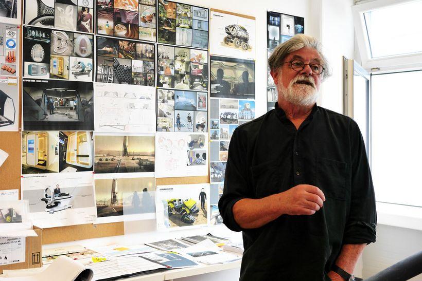 Adrian Smith, <em>Mars</em> second season production designer, at Korda Studios in Hungary.