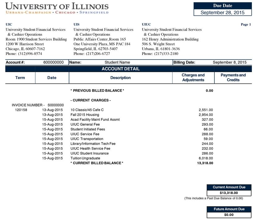 <strong>A typical in-state student invoice, 2015-16</strong>