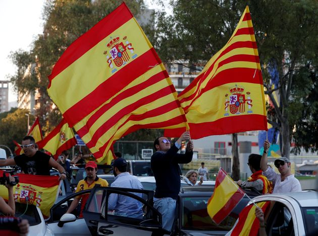 Catalonia: Hundreds Of Thousands March In Barcelona Calling For Spanish