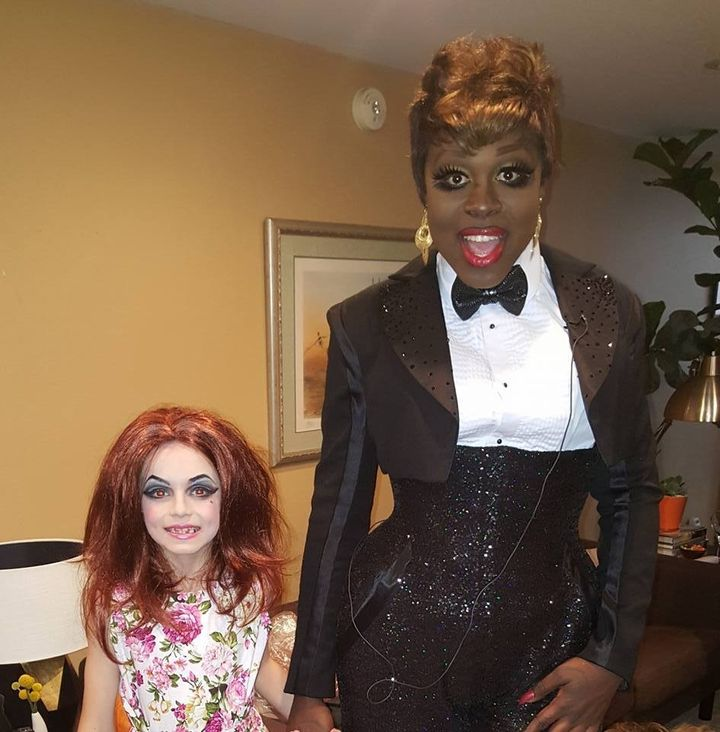 cj and bob the drag queen halloween 2016