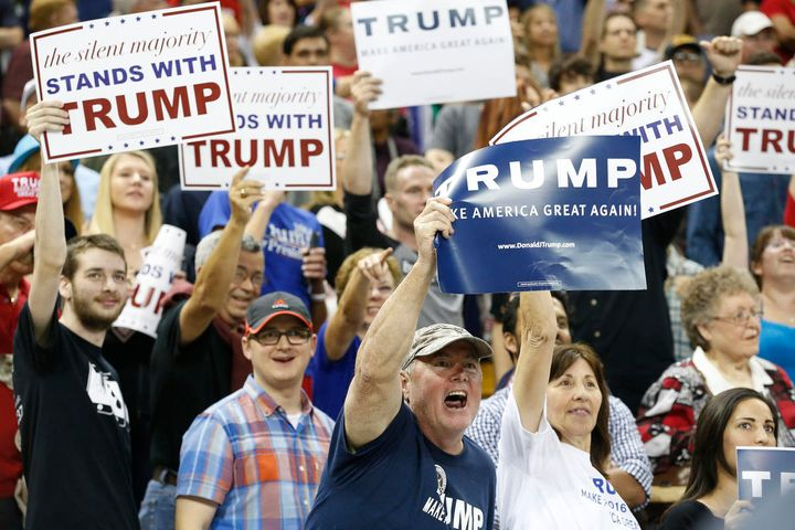 Trump supporters at a March 2016 campaign rally in Orlando, Florida.