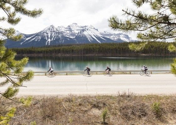 "Photo credit: <a rel=""nofollow"" href=""https://www.mountainmadnesstours.com/jasper-to-banff-cycling-tours/"" target=""_blank"">Mo"