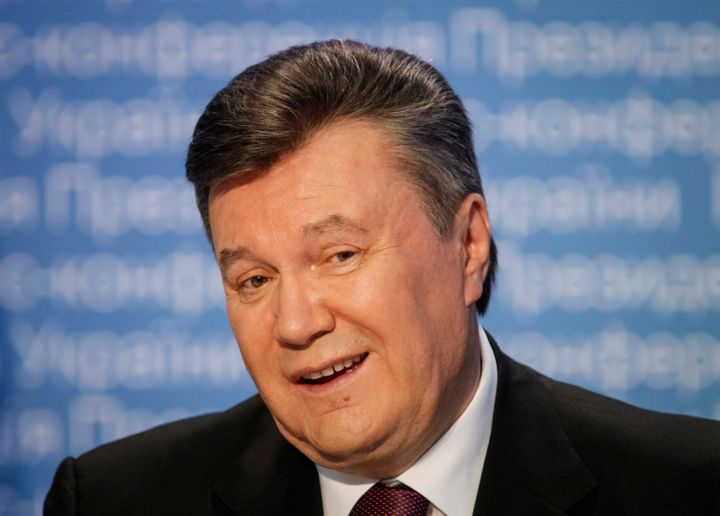 Former Ukrainian President Viktor Yanukovych speaks during a news conference in Kiev March 1, 2013.