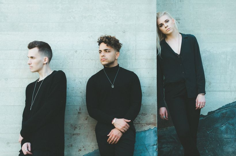 PVRIS (from left: Alex Babinski, Brian MacDonald, and Lynn Gunn) are touring in support of their sophomore album, <em>All We