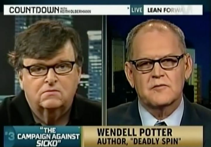 Michael Moore and Wendell Potter on Countdown with Keith Olbermann.