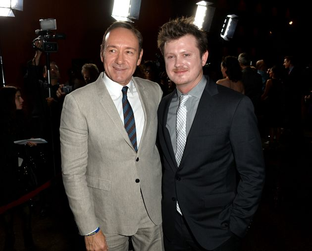Kevin Spacey and Beau Willimon at a 'House Of Cards' event in