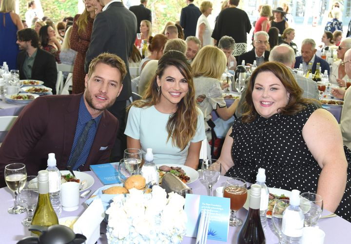 """Hartley and Strause with""""This Is Us"""" castmate Chrissy Metz."""