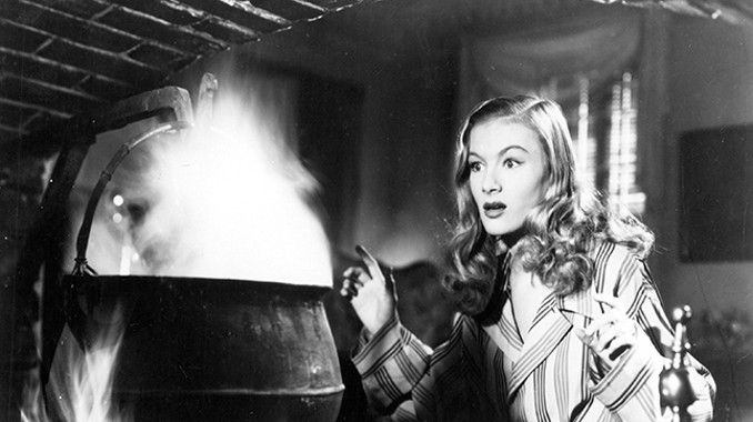 """Veronica Lake in 'I Married a Witch,"""" 1942."""