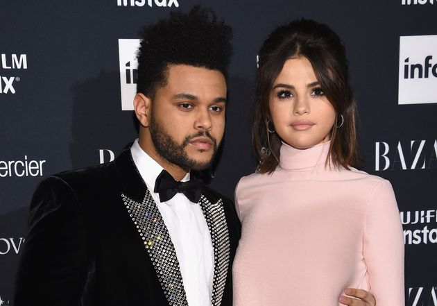 The Weeknd and Selena Gomez pictured together in Sept.
