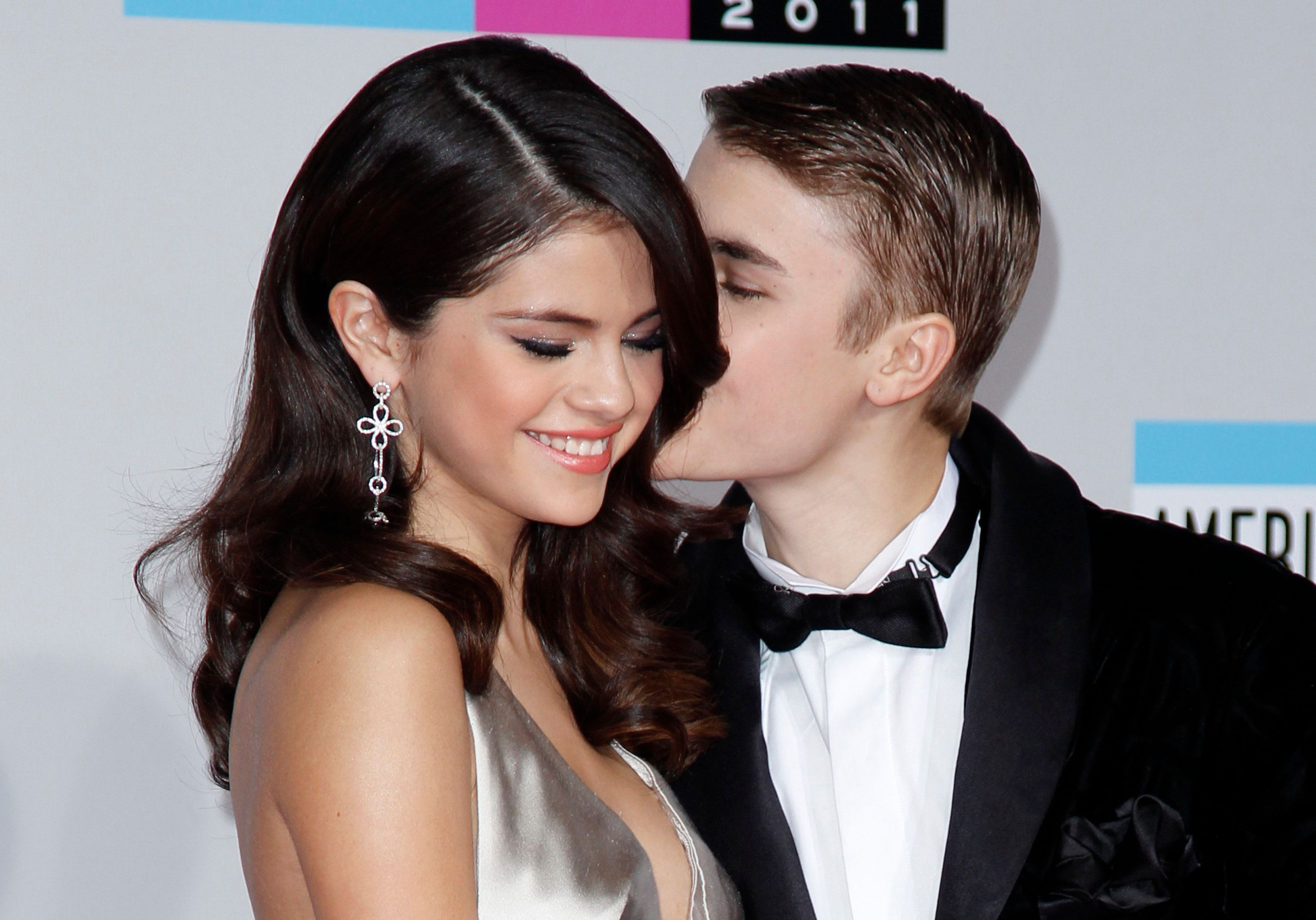 Justin Bieber and Selena Gomez at the American Music Awards in 2011.