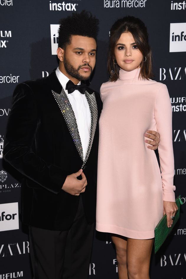 The Weeknd and Selena Gomez pictured in September