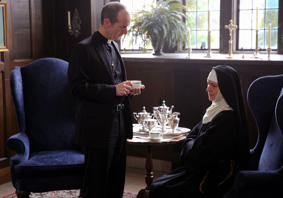 "Denis O'Hare and Melissa Leo star in ""Novitiate."""