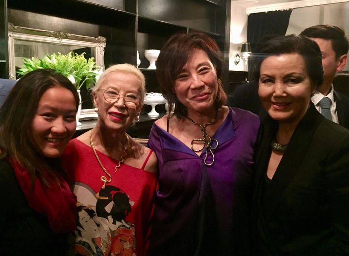 College student Eryn Lum with France Nuyen, Janet Yang and Kieu Chinh
