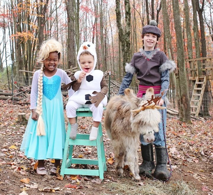 """Bonnice photographs her children&rsquo;s Halloween dress-up adventures with their animal friends for an Instagram series she calls&nbsp;<a href=""""https://www.instagram.com/explore/tags/sweetfluffdressup/"""" target=""""_blank"""">#SweetFluffDressUp</a>."""